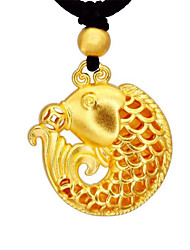 cheap -Women's Pendant Necklace Geometrical Fish Fashion Gold Plated Gold 40 cm Necklace Jewelry 1pc For Gift Daily