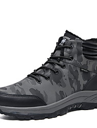 cheap -Men's Comfort Shoes PU Fall & Winter Boots Booties / Ankle Boots Black / Green / Khaki
