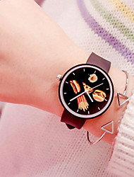cheap -Women's Quartz Watches New Arrival Fashion Black White Pink Silicone Chinese Quartz Black White Blushing Pink Chronograph Cute New Design 2pcs Analog One Year Battery Life