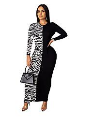 cheap -Women's Bodycon Dress - Color Block White Yellow Red S M L XL