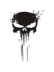 cheap -2PCS Punisher Skull Sticker A Decal Decoration 3D Reflective Decal Car Styling 15*22.2CM Custom Sticker