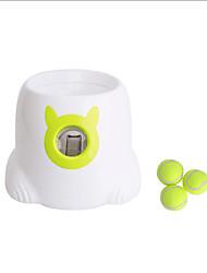 Недорогие -Интерактивная игрушка Автоматические шариковые пусковые установки Собаки Животные Игрушки 1шт Подходит для домашних животных Фокусная игрушка пластик Подарок