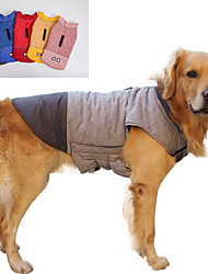 cheap -dog jacket for winter windproof reversible dog coat for cold weather(pink)