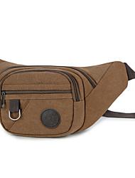 Недорогие -Универсальные холст Поясная сумка Сплошной цвет Черный / Военно-зеленный / Кофейный