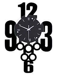 Недорогие -модные цифровые деревянные настенные часы новые современные дизайнерские часы гостиная декор дома horloger