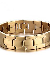 cheap -Men's Chain Bracelet Geometrical Vertical / Gold bar Fashion Steel Bracelet Jewelry Gold For Daily Work