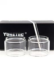 Недорогие -Запасная стеклянная трубка для замены лампы yuhetec для Smok TFV8 Baby V2 / TFV Mini V2 / TF TF2019 / Morph 219W TF219 6 мл / TFV-Mini V2 / Stick V9 Kit / Freemax Fireluke 2 2шт