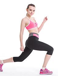 abordables -Femme Pantalon de yoga Couleur unie Course / Running Fitness Entraînement de gym Corsaire Tenues de Sport Evacuation de l'humidité Séchage rapide Contrôle du Ventre Power Flex Haute élasticité Slim