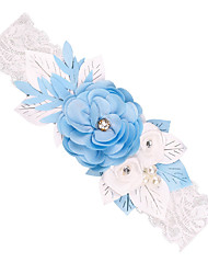 cheap -Lace Wedding Wedding Garter With Lace / Floral / Gore Garters Wedding / Festival