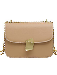 cheap -Women's Chain PU Crossbody Bag Solid Color Black / Brown / Green