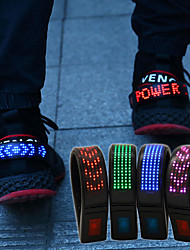 cheap -Shoe Clips 1 Piece Luminous ABS for Running / Cycling / Bike / Jogging Red / Blue / Multi Color Rechargeable