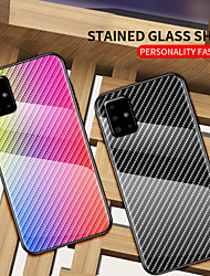 cheap -Gradient Carbon Fiber Phone Case For Samsung Galaxy A51 A71 A91 A81 A70e A41 A21 A11 A01 A90 5G A80 A70 A60 A50 A40 A30 A20 A10 A20e Shockproof Tempered Glass Back Cover Soft TPU Edge