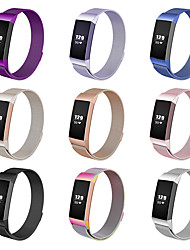 cheap -Smartwatch Band for Fitbit Charge 3 Fitbit charge 3 High-end Milanese Loop Stainless Steel Band Comfortable Wrist Strap