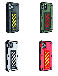 cheap -TGVi'S Fallproof Anti Shock Case For Apple iPhone 11 / iPhone 11 Pro / iPhone 11 Pro Max Shockproof / with Stand / IMD Full Body Cases Lines / Waves / Solid Colored / Armor TPU