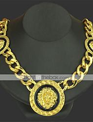 cheap -Men's Pendant Necklace Chain Necklace Classic Lion Precious Unique Design Fashion Gold Plated Chrome Gold Silver 50 cm Necklace Jewelry 1pc For Daily Street