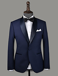 cheap -Navy blue wool custom tuxedo