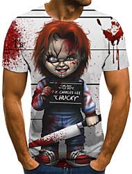 baratos -Homens Camiseta 3D / Arco-Íris Branco