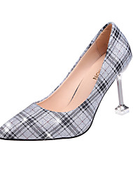 cheap -Women's Heels Stiletto Heel Pointed Toe Faux Leather / Patent Leather Classic / Minimalism Spring & Summer Black / Pink / Silver