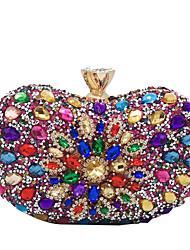 cheap -Women's Crystals Alloy Evening Bag Black / Blushing Pink / Gold