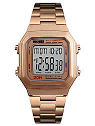 cheap -Men's Sport Watch Wrist Watch Digital Watch Digital Luxury Alarm Stainless Steel Black / Silver / Gold Digital - Rose Gold Black Gold One Year Battery Life / Calendar / date / day / Chronograph