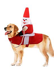 abordables -Chien Manteaux Hiver Vêtements pour Chien Chaud Marron Rouge Anniversaire Costume Husky Labrador Malamute d'Alaska Mélange Poly / Coton Décontracté / Quotidien Garder au chaud S M L XL