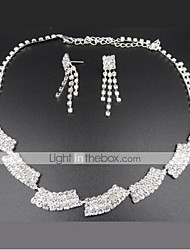 cheap -Women's Drop Earrings Choker Necklace Bridal Jewelry Sets Precious Unique Design Fashion Silver Plated Earrings Jewelry Silver For Wedding Party Holiday 1 set