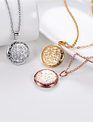 cheap -Women's Pendant Necklace Lockets Necklace Romantic Fashion Titanium Steel Rose Gold Gold Silver 55 cm Necklace Jewelry 1pc For Wedding Gift Daily Engagement Festival / Charm Necklace