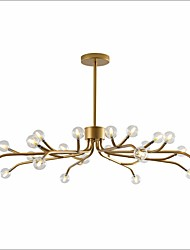 cheap -24 Bulbs ZHISHU 22 cm LED Chandelier Metal Glass Candle-style Gold / Painted Finishes / Black Traditional / Classic / Nordic Style 110-120V / 220-240V