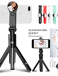 cheap -Bluetooth Selfie Stick Tripod for iphone/Android/Huawei/Xiaomi Handheld Shutter Remote Extendable Mini Tripod with Light Mirror