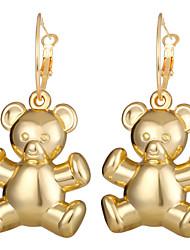 cheap -Women's Drop Earrings Hoop Earrings Ball Earrings Classic Bear Panda Cartoon Trendy Korean Fashion Gold Plated Earrings Jewelry Gold For Party Gift Daily Carnival Festival 1 Pair / Dangle Earrings
