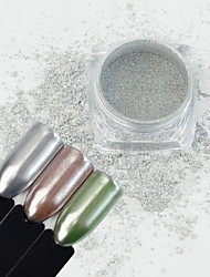cheap -1 Box 1g Mirror Silver Nail Powder Metallic Effect Shimmer Powder Super Shining Manicure Nail Art Chrome Pigment Glitter Dust