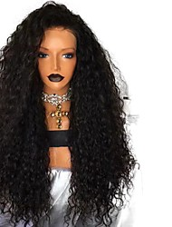 cheap -Synthetic Lace Front Wig Curly Free Part Lace Front Wig Long Black#1B Synthetic Hair 18-26 inch Women's Adjustable Heat Resistant Party Black