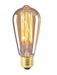 cheap -2pcs 40 W E26 / E27 ST64 Warm Yellow 2200 k Decorative Halogen Bulbs 220-240 V