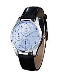 cheap -Men's Dress Watch Quartz Leather Black / Brown 30 m Chronograph Creative New Design Analog Casual Minimalist - Brown Black / White Black / Blue Two Years Battery Life
