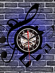 cheap -Music Notes Drums Home Decor Guitar Wall Clock Telecaster  Professional Vinyl Record Clock