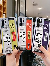 Недорогие -чехол для телефона с этикеткой со штрих-кодом и забавными авиабилетами для huawei mate 30 pro 20 p30 p20 pro письмо поддержка жесткий чехол назад