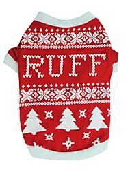 cheap -Dog Sweatshirt Winter Dog Clothes Black Red Costume Cotton Print Cosplay XS S M L