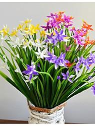 abordables -2 bouquets de bouquets d'orchidées artificielles de plantes artificielles fleurs décoratives robe de mariée