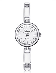 cheap -Women's Bracelet Watch Casual Elegant Silver Alloy Chinese Quartz Silver Casual Watch 1 pc Analog One Year Battery Life