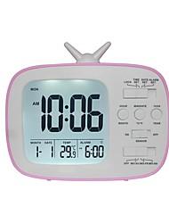 cheap -VON04 LED Digital Alarm Clock With Night Light Thermometer Calendar Alarm Clock Desk Display