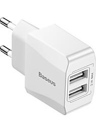cheap -Baseus Mini Dual-U Charger EU 2.1A White