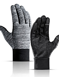 cheap -Winter Bike Gloves / Cycling Gloves Touch Gloves Waterproof Windproof Warm Skidproof Full Finger Gloves Sports Gloves Fleece Black for Adults' Cycling / Bike
