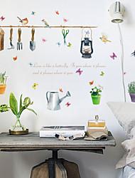 Недорогие -sk7107 растение в горшке бабочка домашний ресторан фон стикер украшения можно удалить