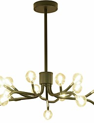 cheap -ZHISHU Candle-style Chandelier Ambient Light Gold Painted Finishes Black Metal Glass LED 110-120V / 220-240V Warm White / White / Wi-Fi Smart