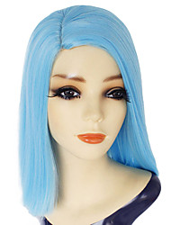 cheap -Synthetic Wig Straight Side Part Wig Short Blue Synthetic Hair 14inch Women's Odor Free Adjustable Heat Resistant Blue / African American Wig