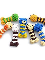 cheap -Chew Toy Squeak Toy Dog Toy Pet Toy 1pc Animals Cute Textile Linen / Cotton Gift