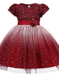 cheap -Princess Dress Girls' Movie Cosplay New Year's Red Pink Beige Skirt Christmas Halloween New Year Polyester / Cotton Polyester