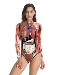 cheap -Skeleton / Skull Cosplay Costume Women's Movie Cosplay Christmas Red Corset T-Back Halloween Children's Day Masquerade Lycra®