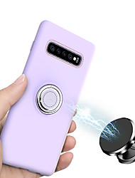 cheap -Case For Samsung Galaxy Galaxy S10 / Galaxy S10 Plus / Galaxy S10 Lite Ring Holder / Frosted Back Cover Solid Colored Silica Gel