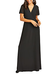 cheap -A-Line V Neck Floor Length Chiffon Dress with by LAN TING Express